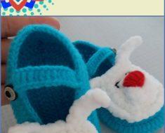 Rabbit Baby Booties Free Crochet Pattern
