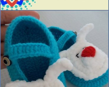Rabbit Baby Booties Free Crochet Pattern