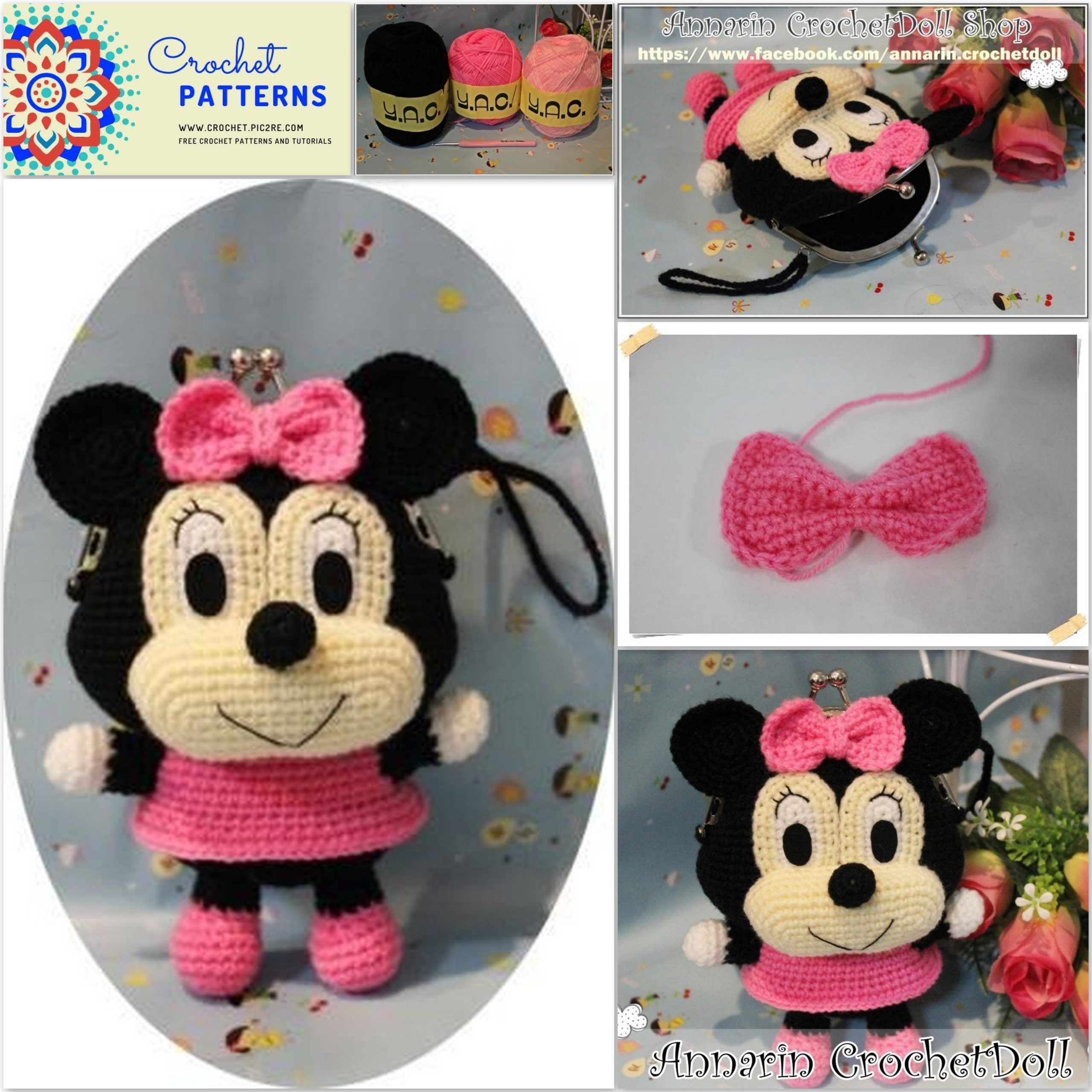 Awesome Minnie Mouse Bonnie Crochet Pattern By HavvaDesigns No.1 ...   2560x2560