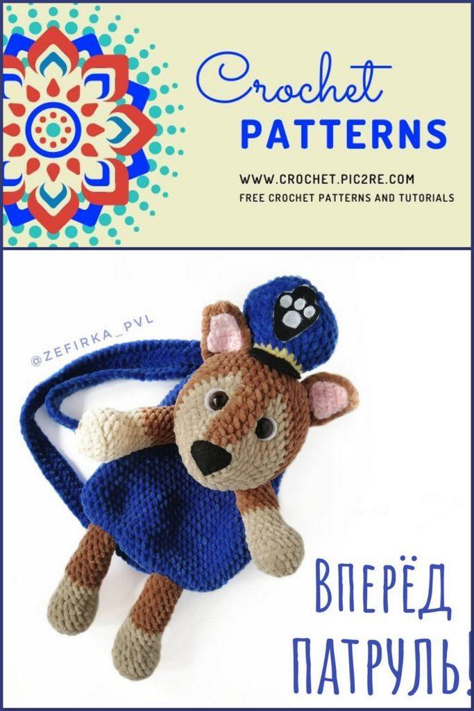 Bunny Backpack crochet pattern | 1024x683